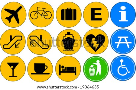 Public Icons Pictograms - stock photo