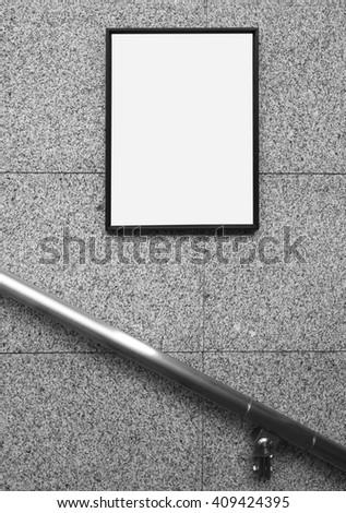 Public indoor advertising background   - stock photo