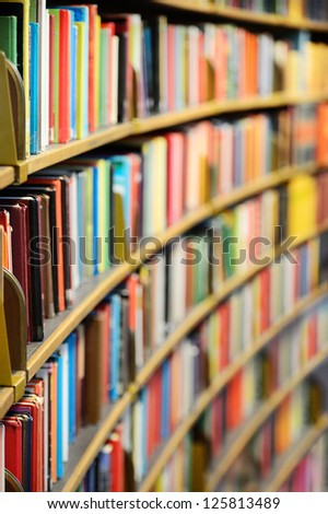 Public library - stock photo