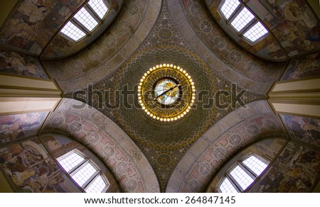 Public Library Rotunda - stock photo