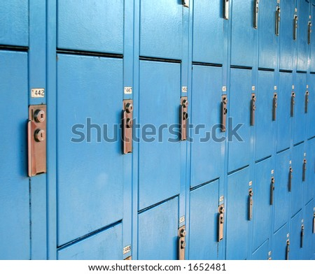 Public Lockers - stock photo