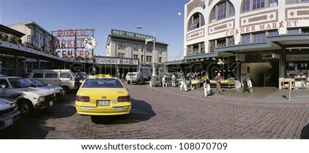 Public Market Place in downtown Seattle, Washington. - stock photo