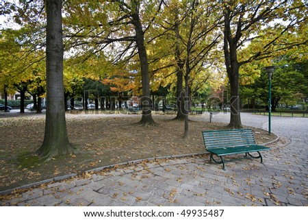 Public park to Como in autumn