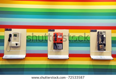 Public phones - stock photo