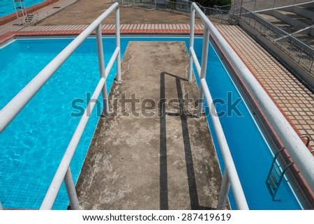 Public plunge pool  - stock photo
