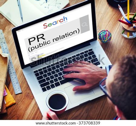 Public Relation Communication Marketing Message Concept - stock photo