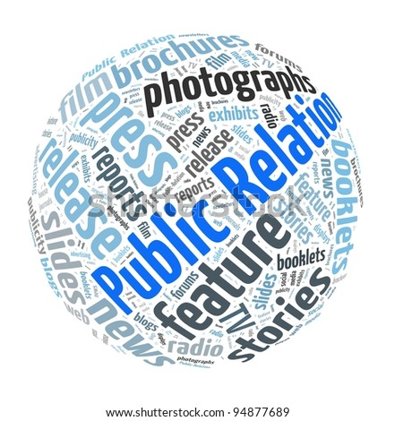 Public Relation Concept in Word Collage - stock photo