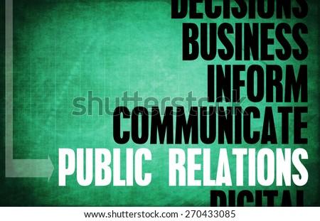 Public Relations Core Principles as a Concept Abstract - stock photo