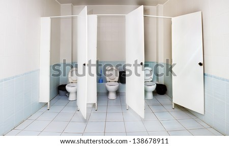 public restroom - stock photo