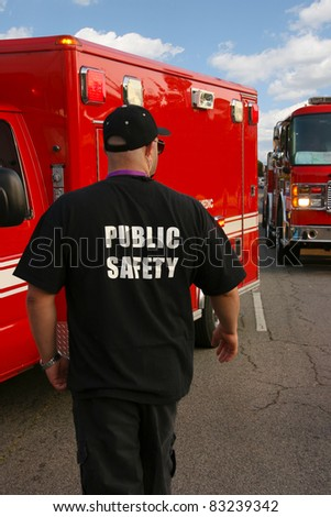 Public safety officer - stock photo