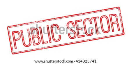 Public Sector red rubber stamp on white. Print, impress, overprint. - stock photo
