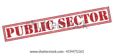 Public sector stamp - stock photo