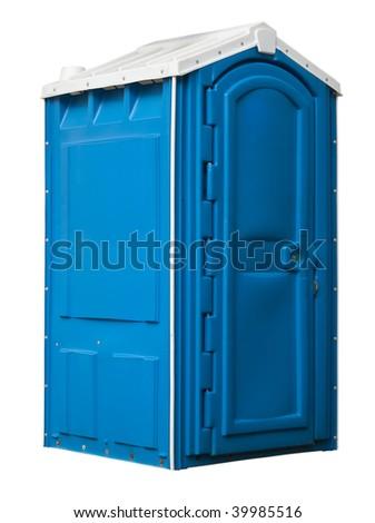 public toilet isolated on white - stock photo