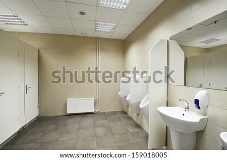 Public toilet / Urinals  - stock photo
