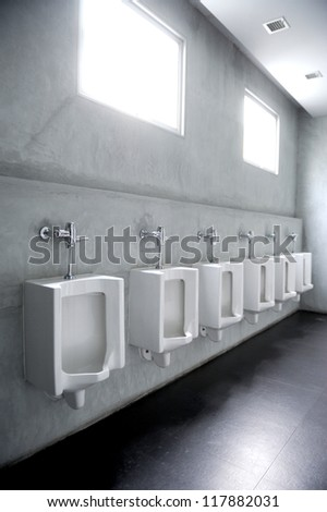 public toilets - stock photo