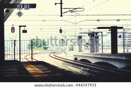 Public Transportation Station Platform Station Metropolitan Concept - stock photo