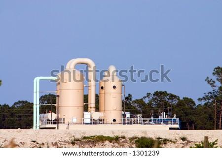 Public utility water treatment plant - stock photo
