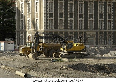 Public Works. - stock photo