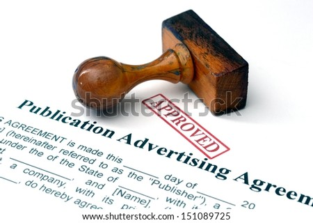 Publication advertising agreement - stock photo