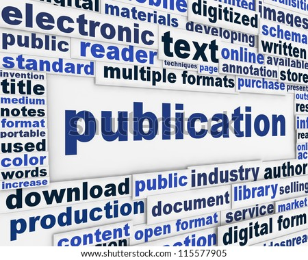 Publication poster design. Document dissemination messeage background