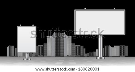 Publicity board in a city - stock photo