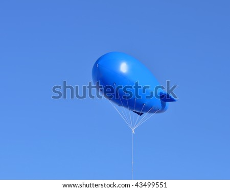 Publicity zeppelin - stock photo