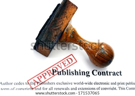 Publishing contract - stock photo