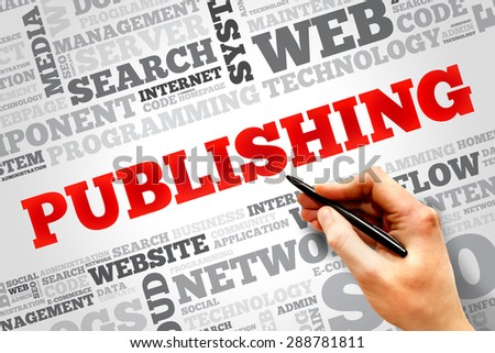Publishing word cloud, business concept - stock photo