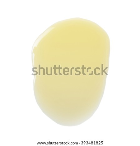 Puddle of olive oil isolated