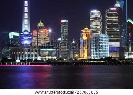 Pudong district in Shanghai (China)
