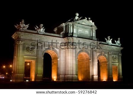 Puerta de Alcala in Madrid, Spain - stock photo