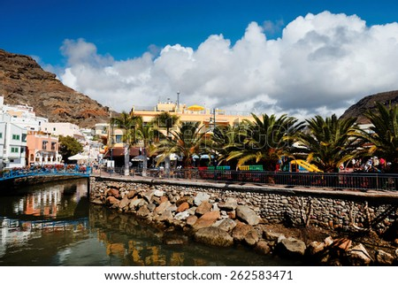 Puerto de Mogan in Gran Canaria, Spain, Europe - stock photo