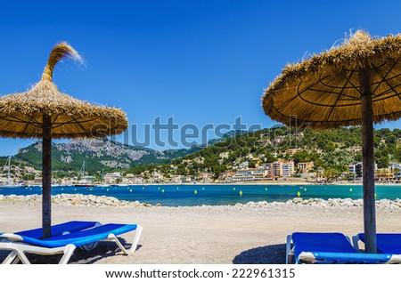 Puerto de Soller in Mallorca - stock photo