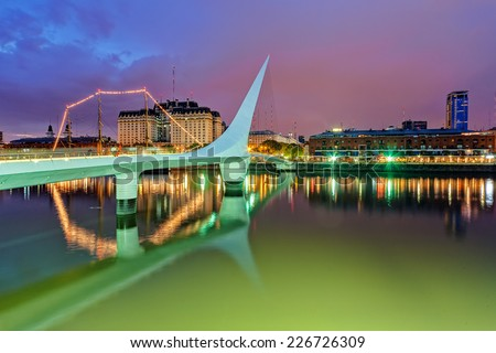 Puerto Madero district of Argentina capital city Buenos Aires - stock photo
