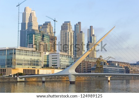 Puerto Madero neighborghood, touristic destination in Buenos Aires, Argentina.