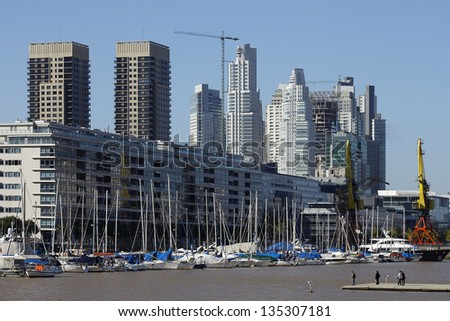 Puerto Madero, touristic destination in Buenos Aires, Argentina - stock photo