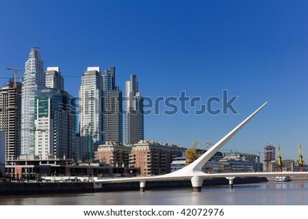 Puerto Madero, touristic destination in Buenos Aires, Argentina - stock photo