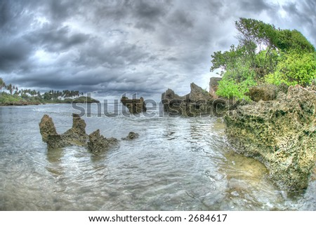 Puerto Plata - Caribbean  - island - stock photo