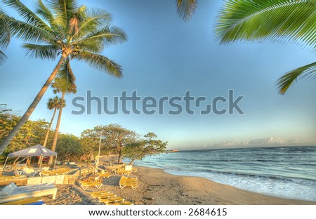 Puerto Plata - Caribbean  - shore - stock photo