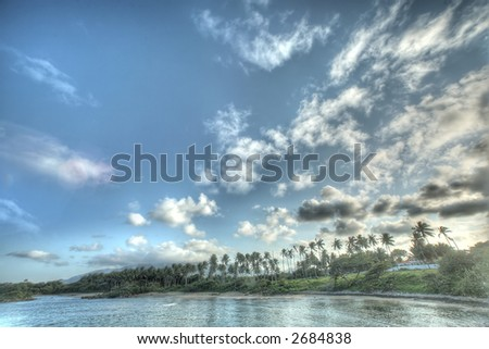 Puerto Plata - Caribbean - sunset - stock photo