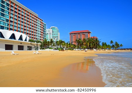 Puerto Rico - Condado Beach - stock photo