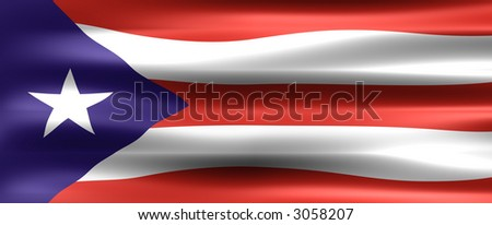 Puerto Rico Flag - Symbol of a country - stock photo