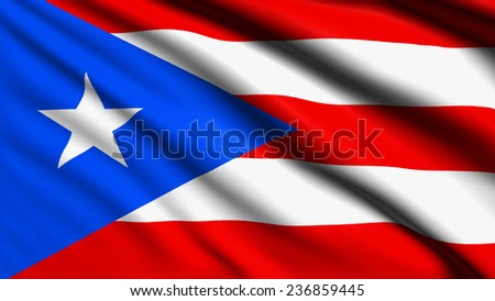 Puerto Rico flag with fabric structure