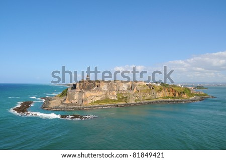 Puerto Rico, San Felipe del Morro Fort. - stock photo