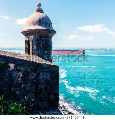 Puerto Rico symbol landscape - stock photo