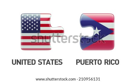 Puerto Rico United States High Resolution Puzzle Concept