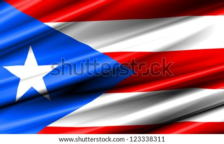 Puerto Rico Waving Flag - stock photo
