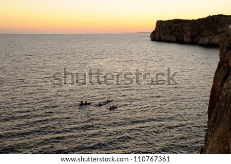 Puesta de sol Menorca - stock photo