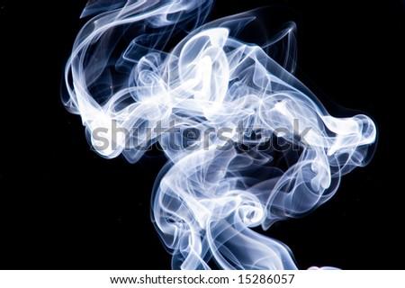 puff of colored smoke - stock photo