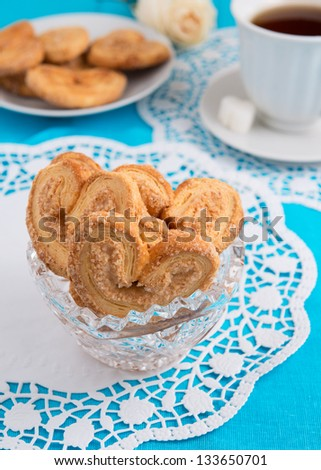 Puff pastry biscuit - stock photo